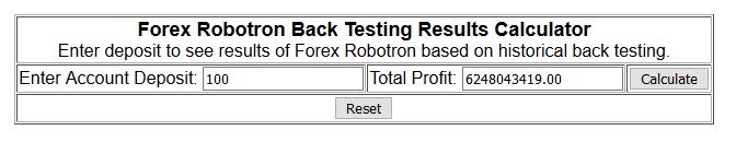 forex robotron calculator