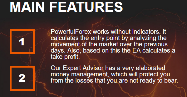 powerfulforex key features