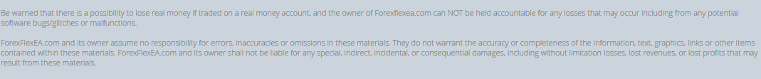 flex ea disclaimer