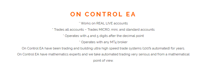 On Control EA Review - Forex Robot Expert