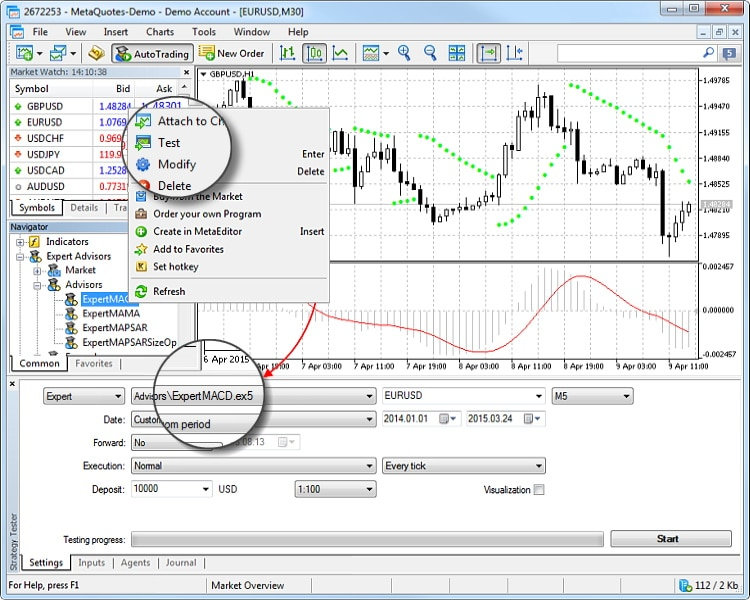 metatrader strategy tester tool