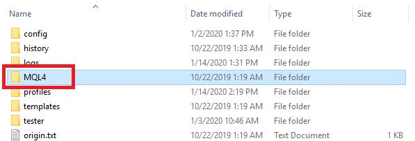 """""""MQL4"""" folder"""
