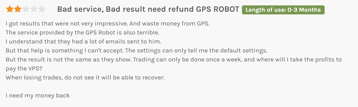 gps forex robot review from customer