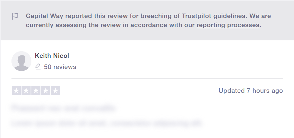 Capital Way Customer Reviews