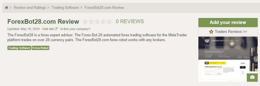 Forex Bot 28 Customer Reviews