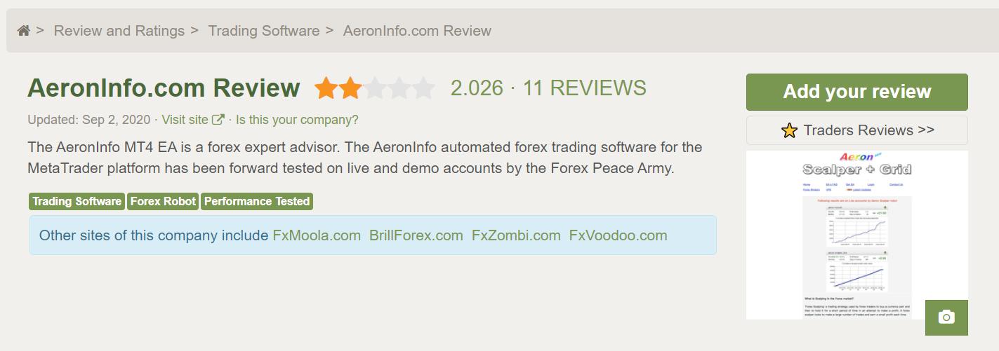 Aeron Robot Customer reviews
