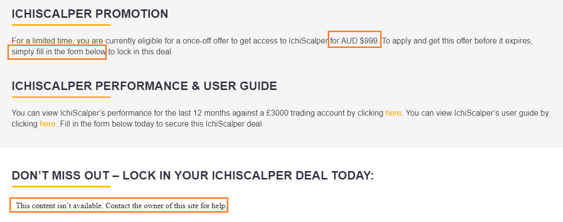 ICHI Scalper - A$999 for a scalper