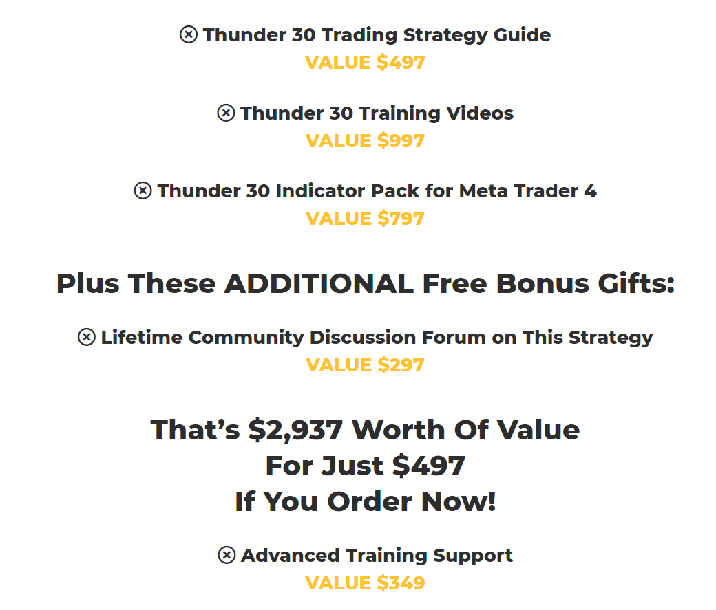 Thunder 30 Signals Product Offering