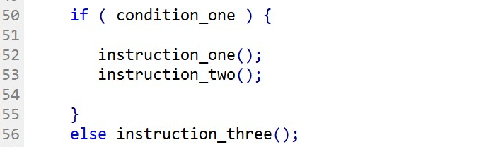 IF-ELSE statement with a single ELSE instruction