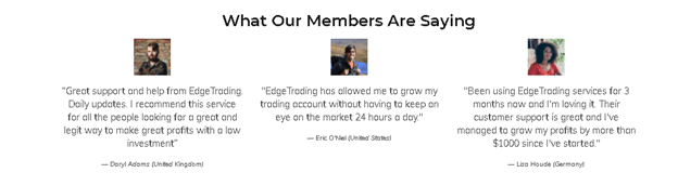 Edge Trading Customer Reviews
