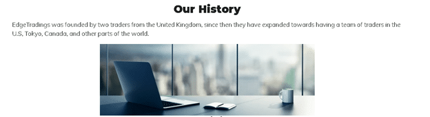 Edge Trading - our history