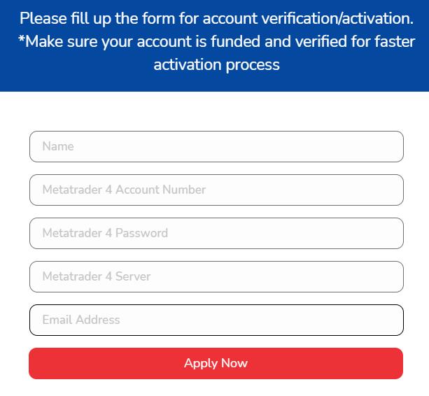 Elite Forex Scalper - account form