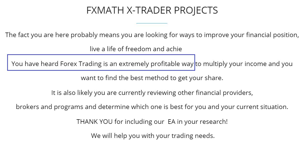 FXMath X-Trader presentation