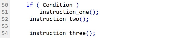 If-Statement format without curly brackets