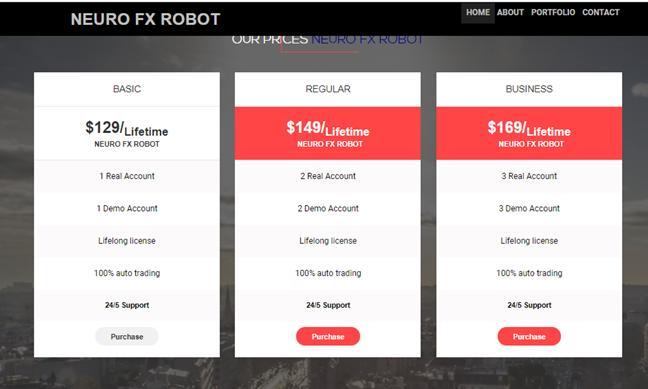 Neuro FX Robot price