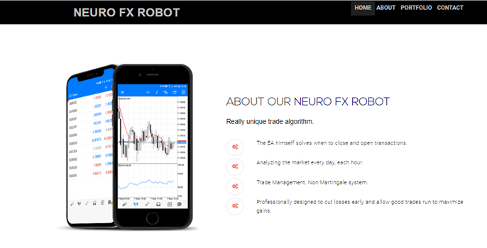 Neuro FX Robot Product Offering