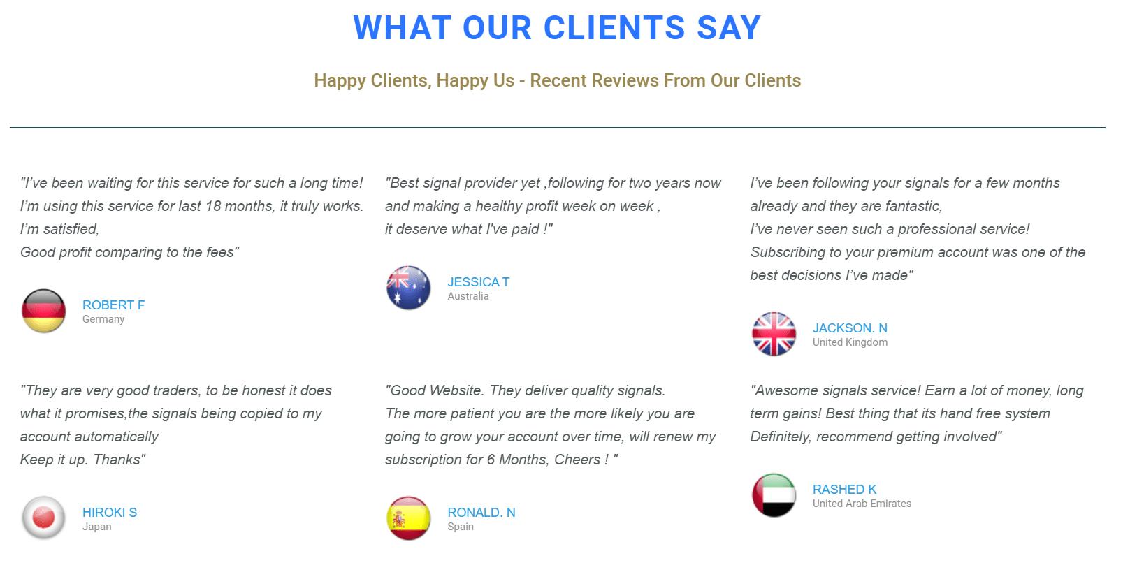 Waw Forex Signals Customer Reviews