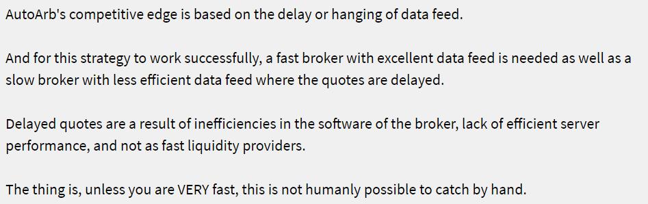 AutoArb - data feed