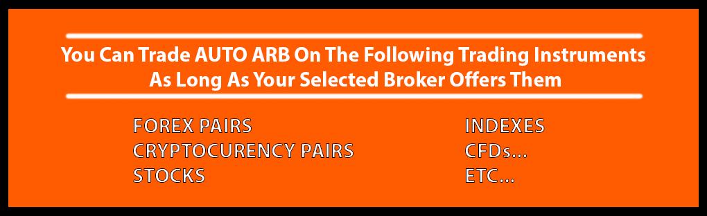 AutoArb trading instruments