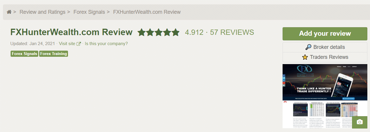 FX Hunter Wealth Customer Reviews