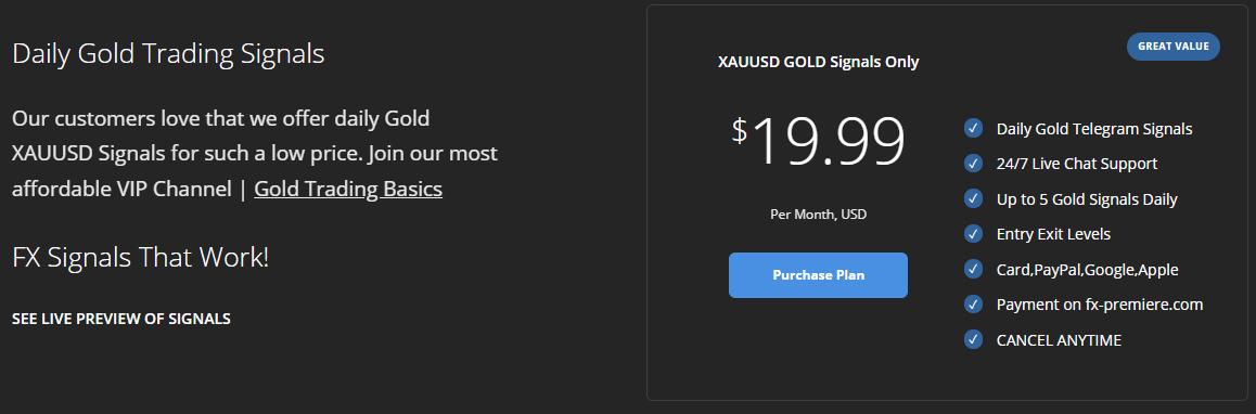 FX Premiere. Gold signals for $19.99