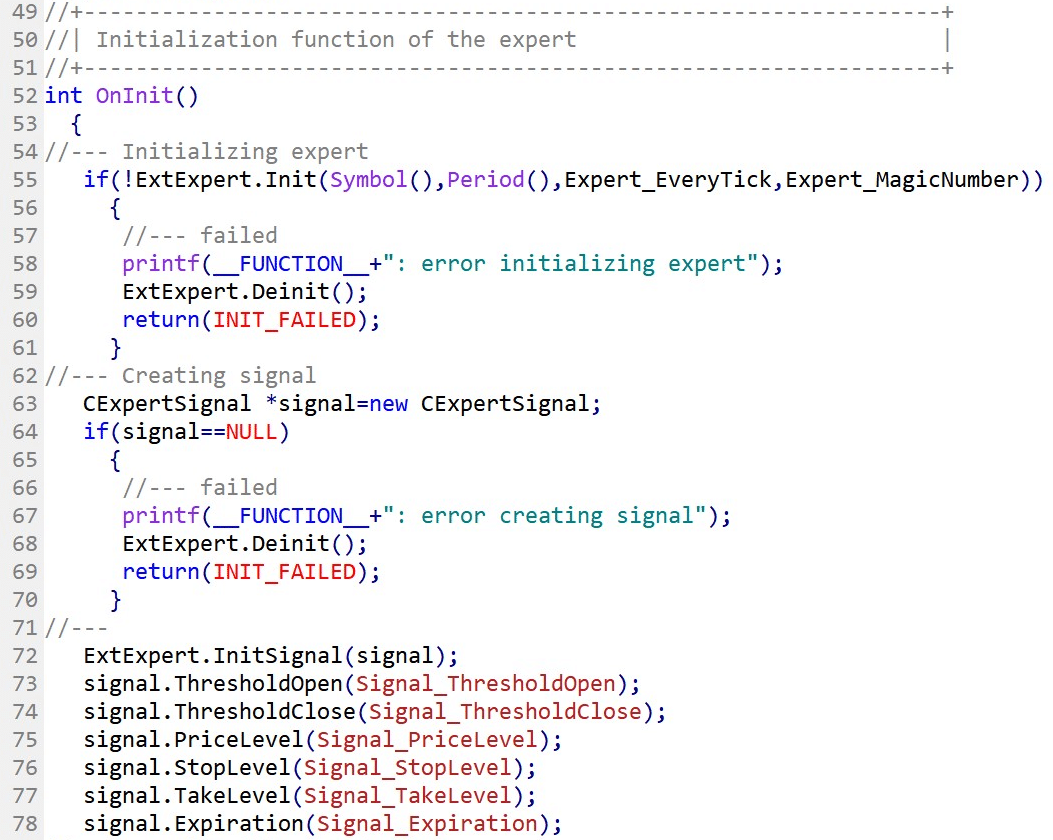 Initialize the Expert Advisor with OnInit(). Part.1
