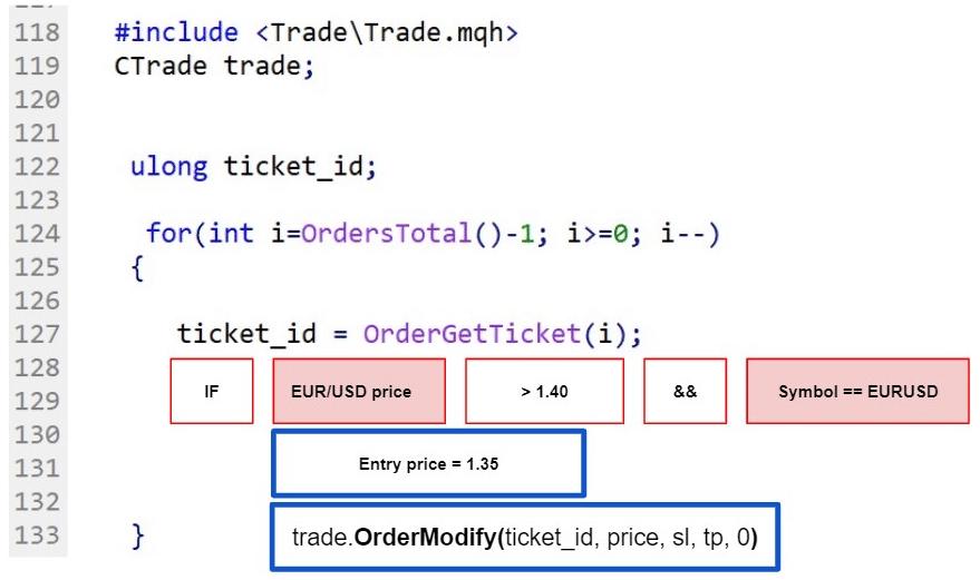 Fig.112 Select pending order in MQL5