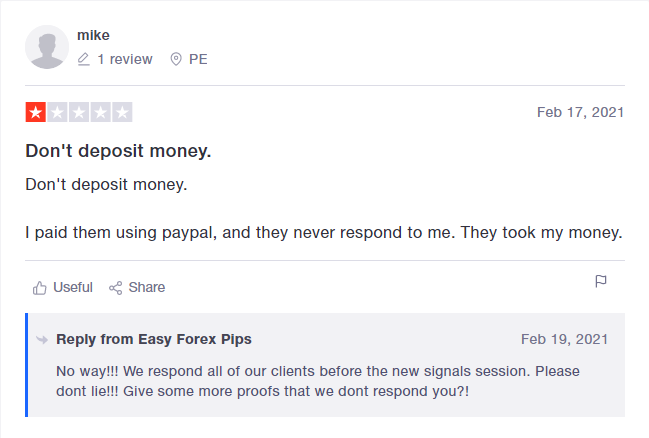 Easy Forex Pips Customer Reviews