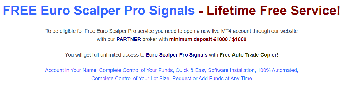 Euro Scalper Pro. These signals can be owned for free