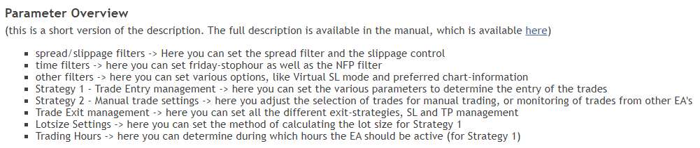 Advanced Scalper - parameter