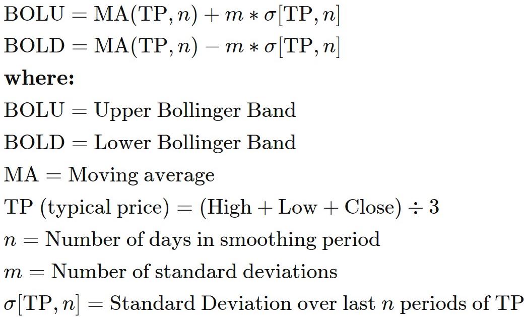 170 Bollinger Bands formula