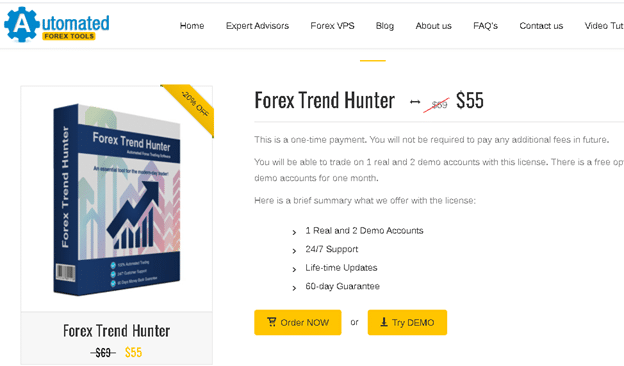 Forex Trend Hunter price