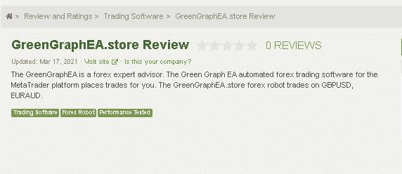 Green Graph EA Customer Reviews