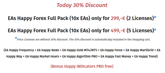 Happy Trend - 30% discount