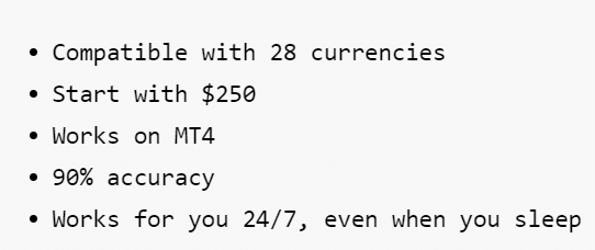 R0B0.1. The system can work with all available on the MetaTrader 4 terminal currency pairs.