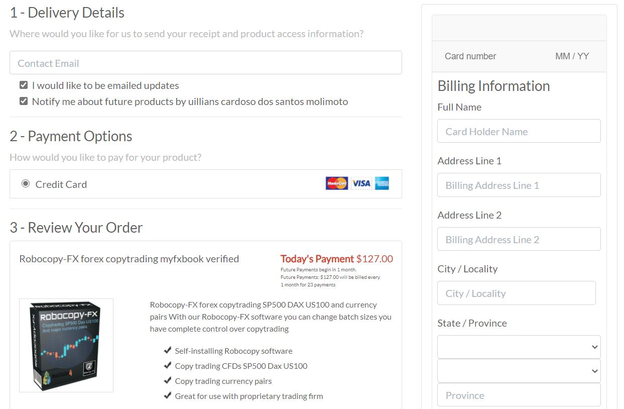 Robocopy FX payment