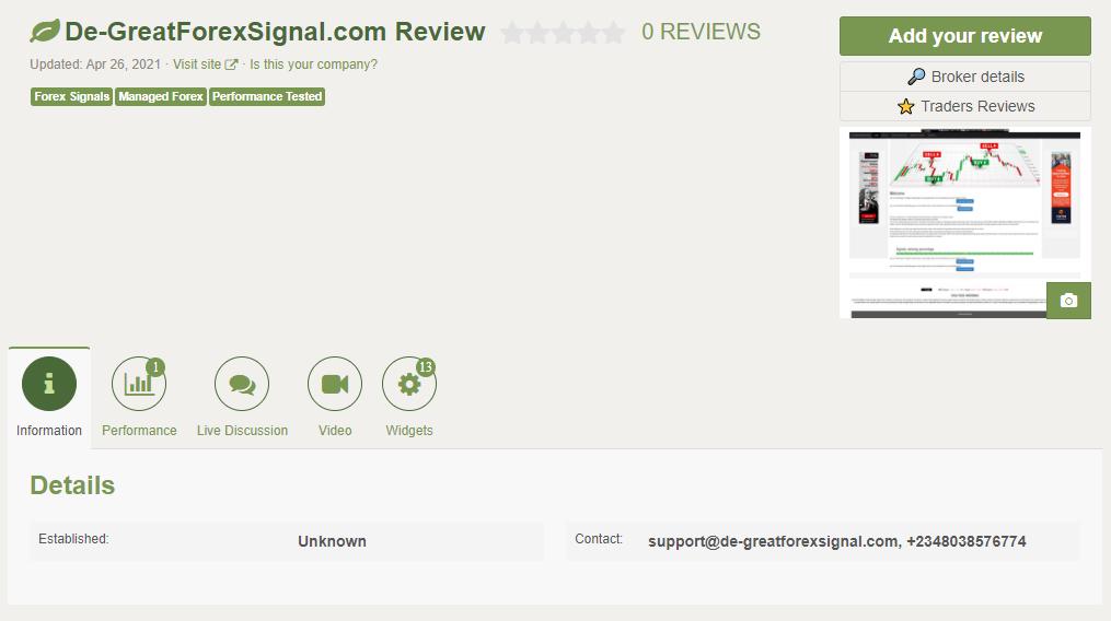 Gold VIP Signal Customer Reviews