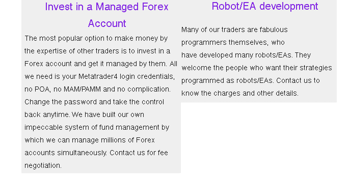 MFWU (Managed Forex With Us) - invest in a managed forex account