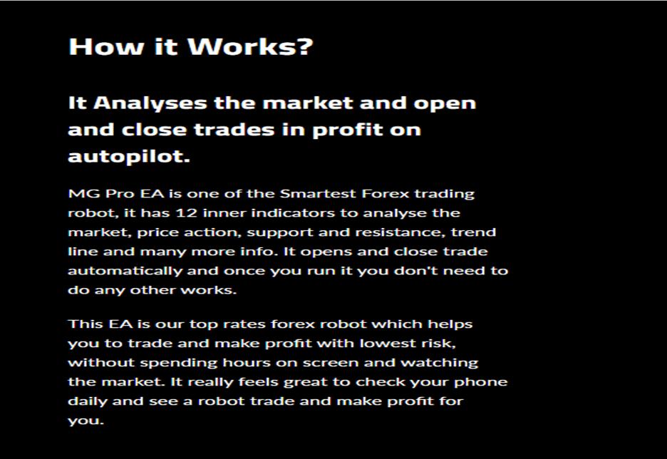 MG Pro EA Trading Strategy