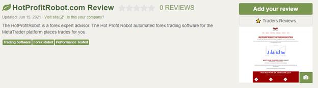 Hot Profit Robot Customer Reviews