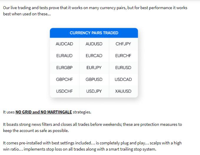 Features of DynaScalp EA.