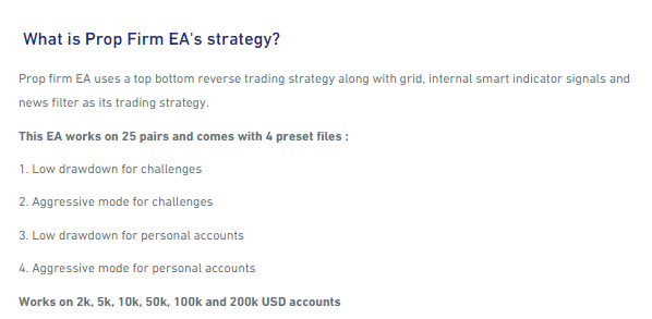 Strategy of Prop Firm EA.