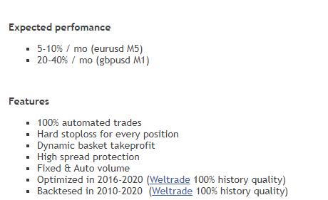 Features of True Range Pro.